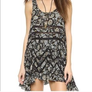 Free People intimately voile & lace trapeze dress